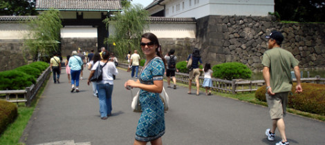 July 20 2009, Alisha at the Imperial Palace, Tokyo