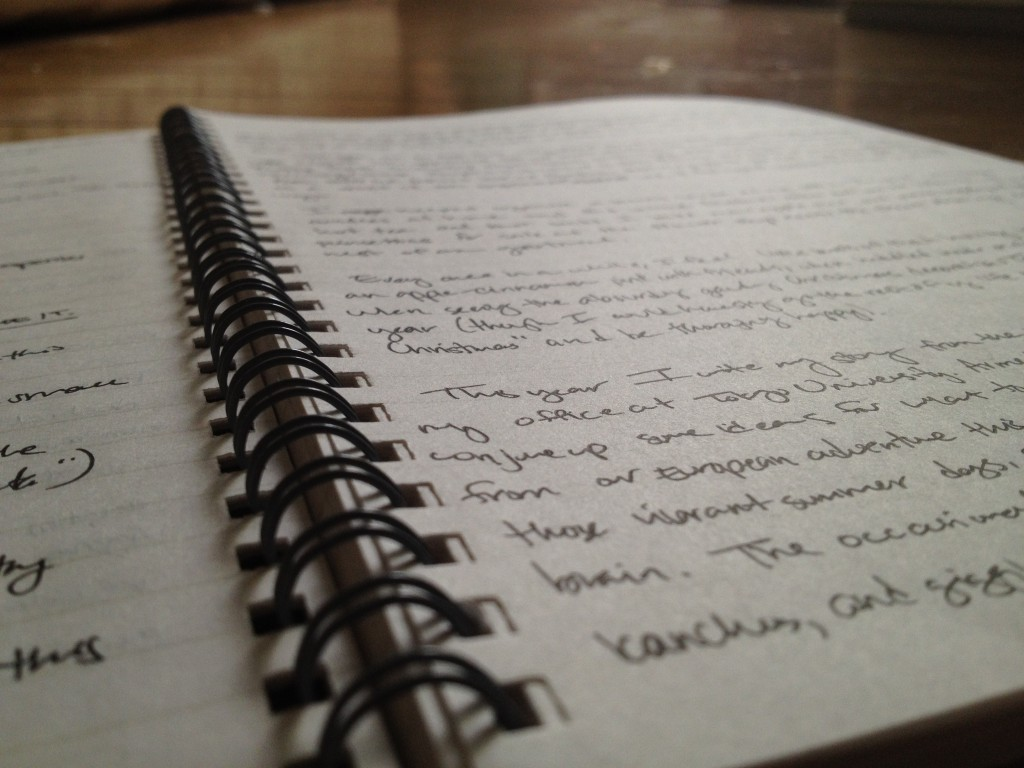 One of the notebooks I write in.